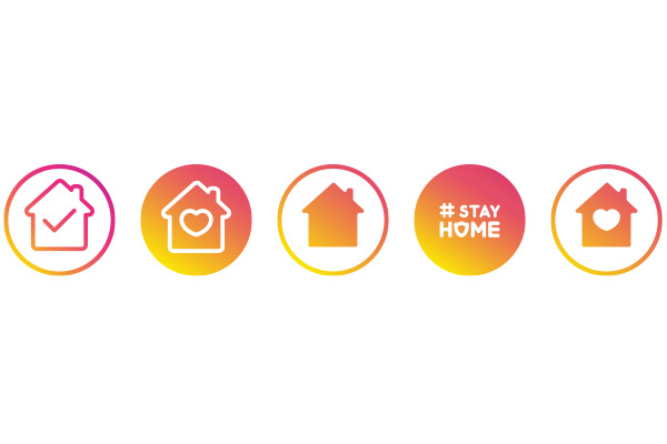 Stay Home Icons