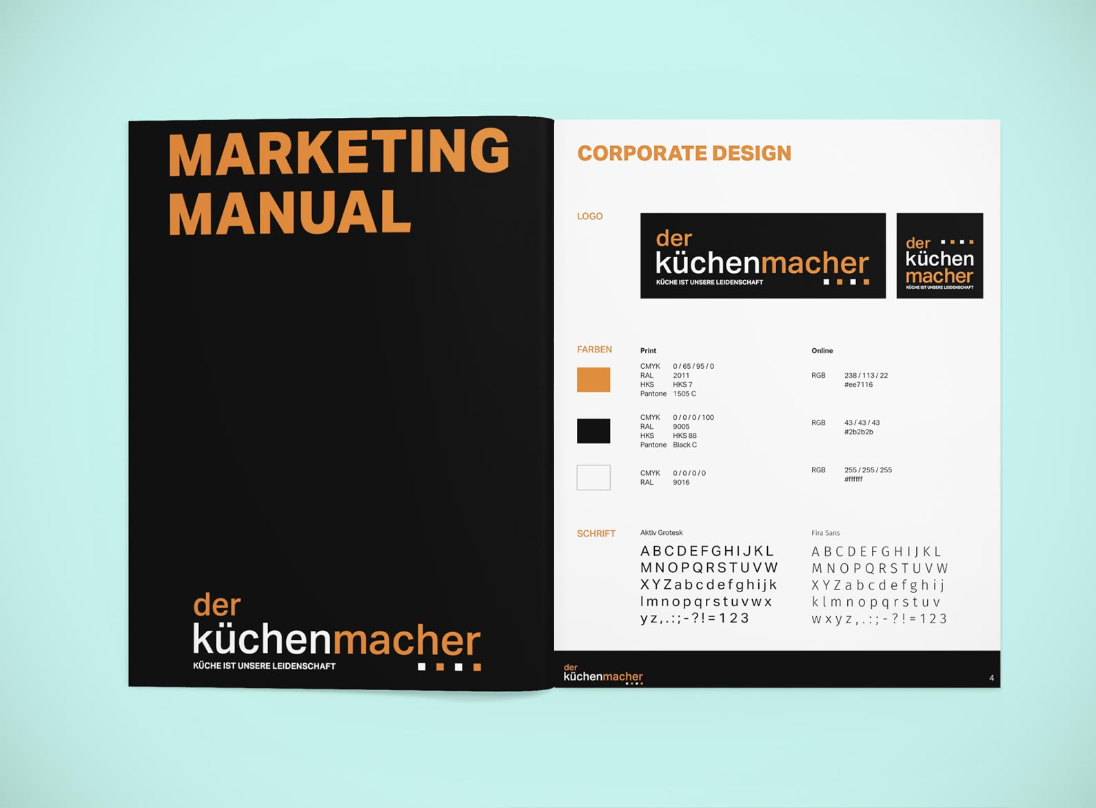 Referenz der küchenmacher Marketing Manual • Lemm Werbeagentur